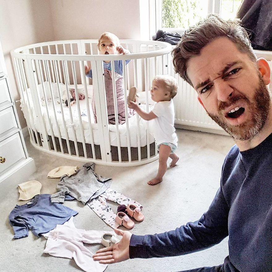 4個女兒的爸拍出18張「最真實家庭照」 才知IG上美滿家庭照都是假的...假的!