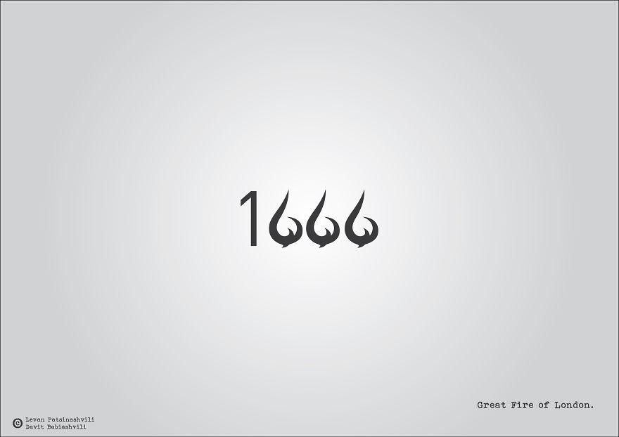 25個「字體裡暗示某個歷史事件」的奇特西元年份字體?1984年超有梗!