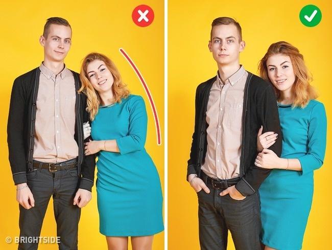 10張「差一點其實差很多」的情侶擺PO神級技巧,已經不是顯胖顯瘦的問題了!