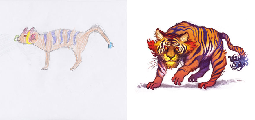 35張被藝術家「注入超猛生命力」的精采小朋友畫作!