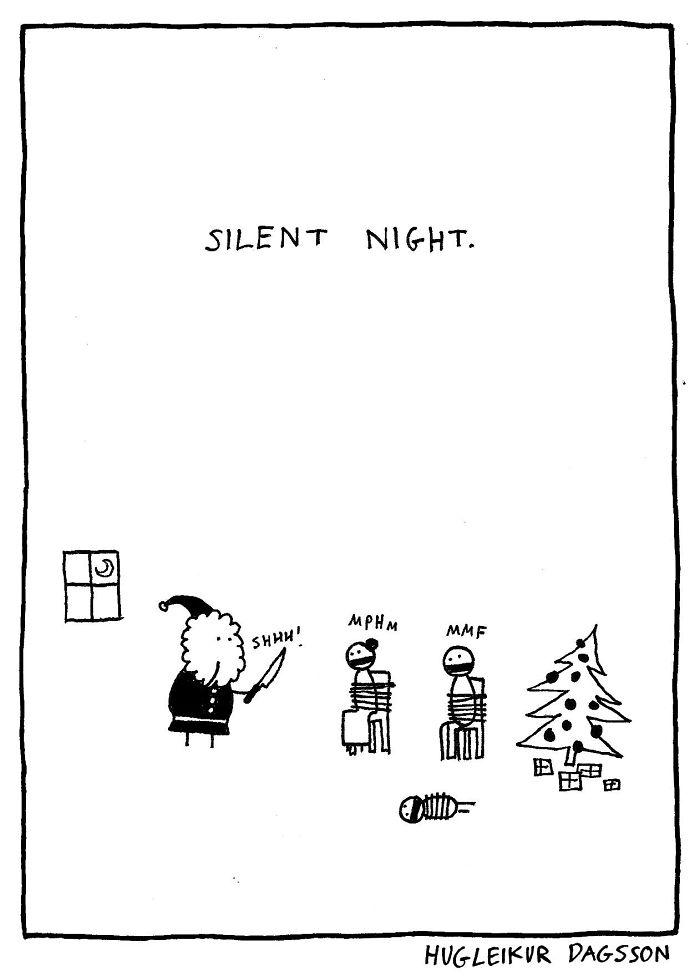 33張在善良的人「都會激發出內心黑暗」的黑色幽默諷刺插畫