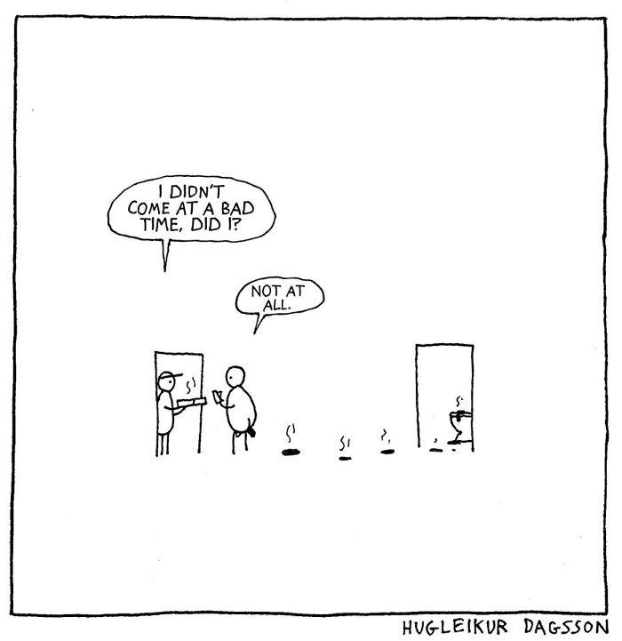 33張「可能會把你內心黑暗帶出來」的黑色幽默諷刺插畫。