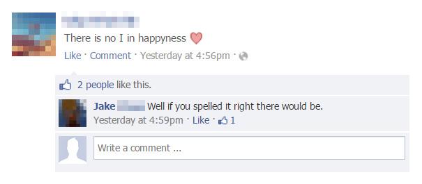 15則「原PO已經被嗆到往生」的臉書爆笑留言。#3「我的GG超大,有到A伸到Z!」