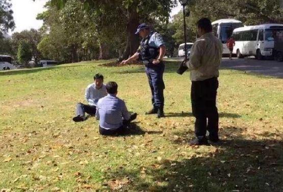 中國旅客「隨地亂解放」慘踢鐵板!試圖拒捕反遭澳洲警察超狠過肩摔...