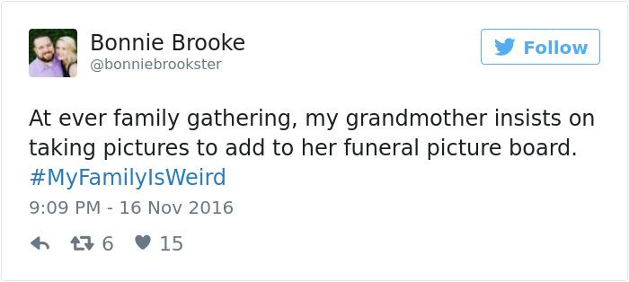 20個網友分享「我的家人有夠怪」的爆笑真實故事