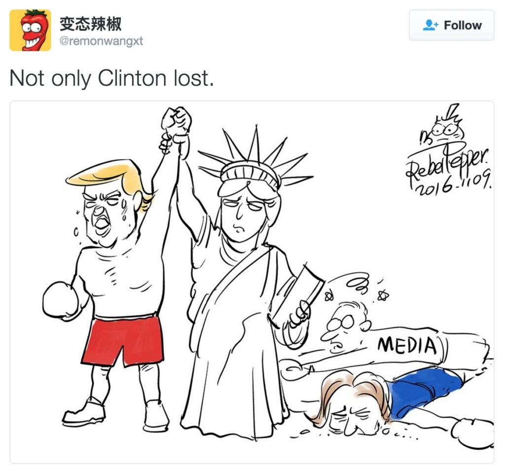 15張超真實又爆笑「世界對川普當選看法」的諷刺插畫!