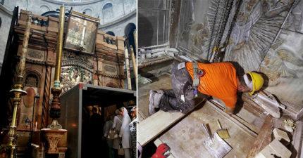 「耶穌遺體聖墓」數百年來首次被打開!那些不相信耶穌存在的人臉都腫了…