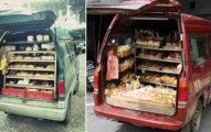 「懷舊兒時麵包車」來了!銅板麵包便宜又好吃,網友淚推:「還要加一罐蜜豆奶!」