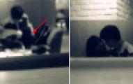 女高中生在咖啡廳,頭伸男生兩腿中間「上下動」,嚇到所以客人...(影片)
