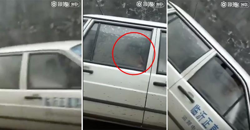 路邊駕駛訓練車內發現有人赤裸裸「搞車震」,網友:「女學生想用身體換駕照」(影片)