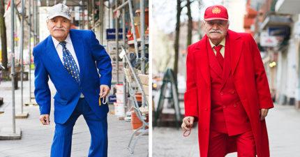 86歲時尚裁縫師3年來「每天穿不同」上班!攝影師每天配合「手中珠子太吸睛」!(35張)