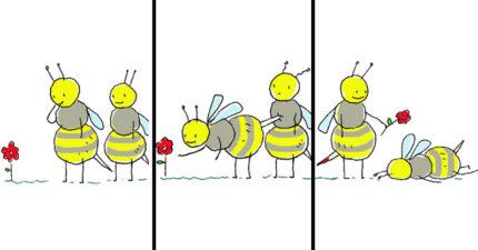 15張讓你下把掉地板的「神展開可愛爆笑動物」漫畫!#11蜘蛛要換女朋友...