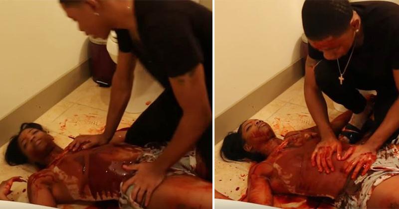 男子回家驚覺女友倒臥血泊,「背後血淋淋兇手」女友狂笑讓他氣到飆髒話...