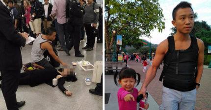 新北市消防猛男去香港度假撞「急救事件」,「拋家棄子」奮不顧身的英勇畫面被網友讚爆!