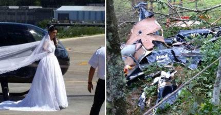 新娘原本想搭直升機登場給新郎一個驚喜,新郎等了好久牧師說出令人心碎的消息...