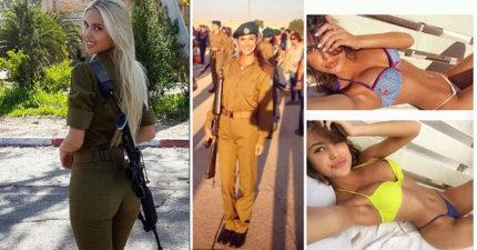 12張「會讓敵人瞬間舉白旗」的以色列極品女兵,#4超「胸」的...