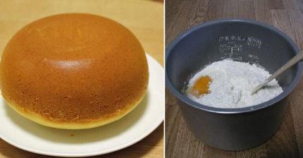 4個步驟輕鬆用「電鍋」做出零技巧超美味蛋糕!地瓜版本超正點!