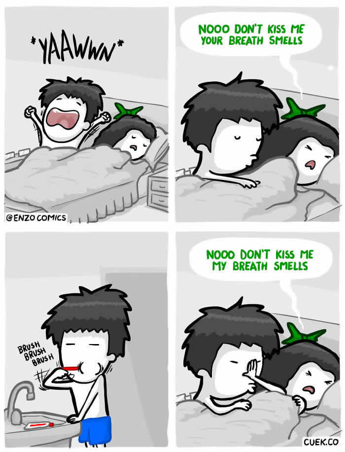 16個「只有最親密情侶才能到達的境界」甜蜜爆笑漫畫。#2男生摸女友屁屁的主要原因。