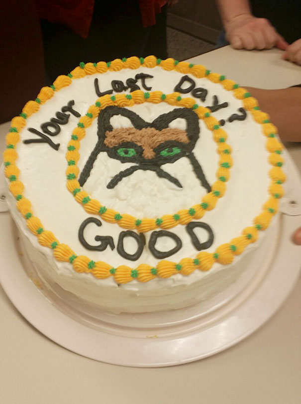 20位離職員工分享他收到的「超扯爆笑離職蛋糕」。 收到#20真的會氣到不想離職了!