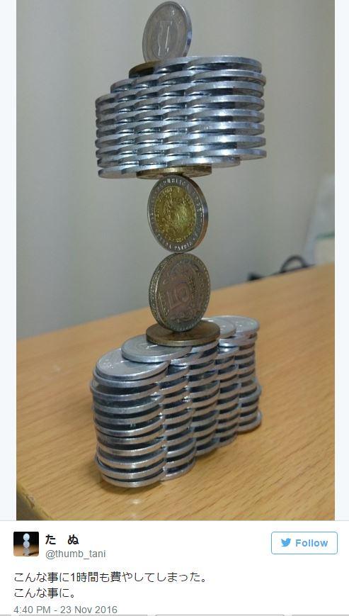 18個日本網友的高難度平衡「日幣堆疊藝術」美到讓人屏息!最後一個直接成為「小小生命」的夢幻城堡!