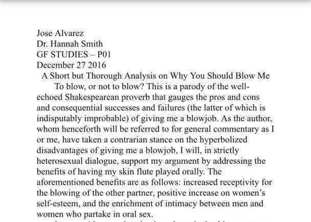 為何要幫你口愛?女友要求他寫出能「心服口服」的論文,「超專業分析」讓網友跪著看完!