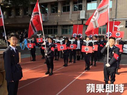台灣高中生校慶「尷尬Cosplay」引網友熱議,網友:「難怪被列為最無知國家」。(6張)