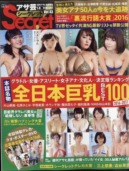 15名入選日本雜誌「最強巨乳排行榜」超兇狠女星,第1名「超完美比例+臉孔」按讚到手痠!