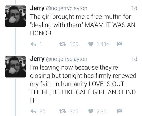 夜深人靜他在咖啡廳目睹「可愛女店員告白」!之後男店員請他等一下帶女生「離開幾分鐘」超甜蜜!
