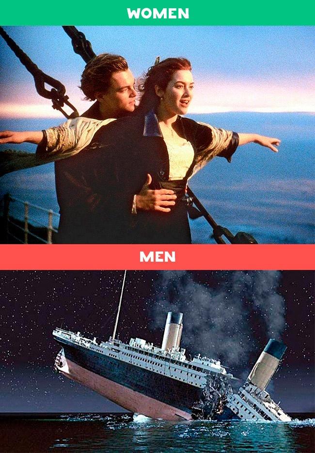 10個讓你秒懂男女到底差在哪的「爆笑中肯對照圖」