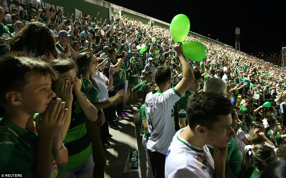Fans filled their stadium in a remote corner of southern Brazil, holding a second night of vigil for their team whose stunning rise from the fourth division in Brazil to the continent's top tier had captured the country's imagination