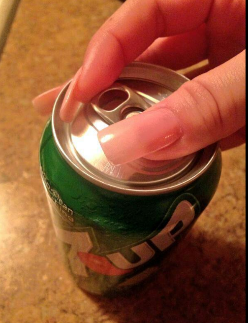 Trying not to crack off your entire nail when confronted with this: