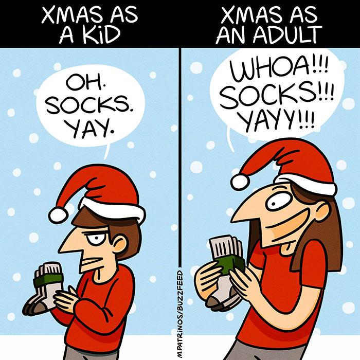 25張讓網友瘋狂推爆的「中肯到崩潰聖誕悲劇」超爆笑圖片!#4當你客氣說「什麼都不要」時...
