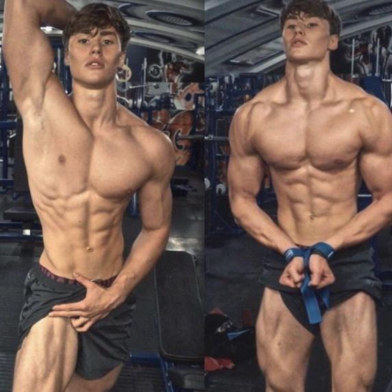 他14歲時因為身材瘦弱被霸凌,18歲練成「高顏值+完美六塊肌」背部線條更是爆炸!