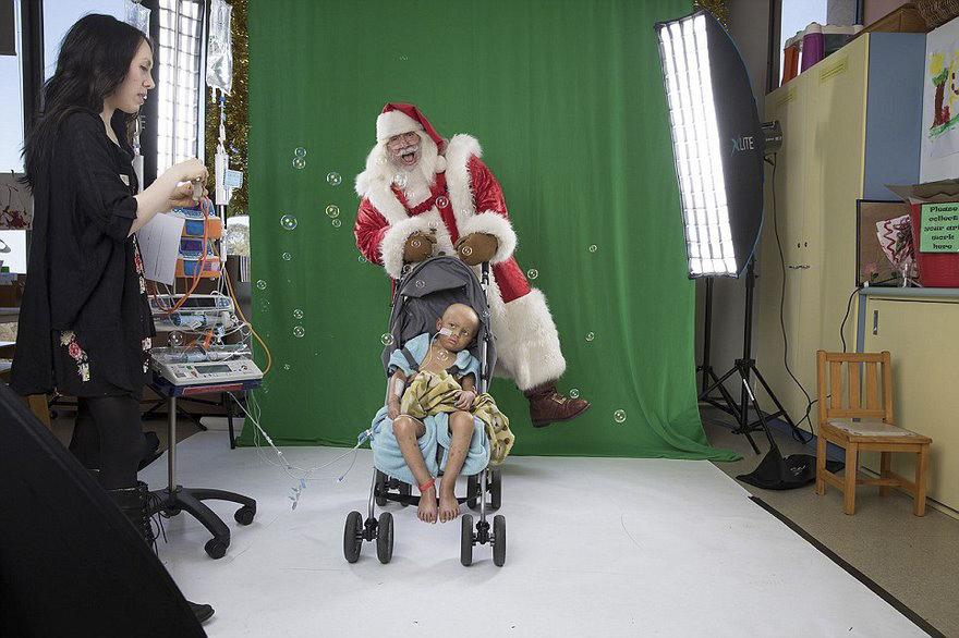 10張帶領這些無法離開病床的孩子們「去夢幻世界」的感人特效照片!
