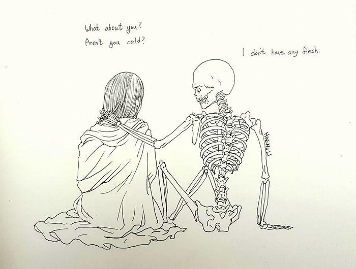 15張女設計師為了要治療自己的憂鬱症所畫出的「死神戀愛漫畫」!