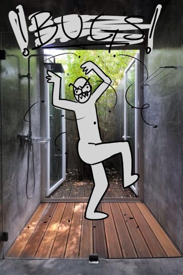 9張畫家用卡通人物來表示「有錢人的澡堂」根本就變態!