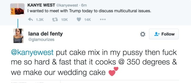 The response to this Kanye West tweet.