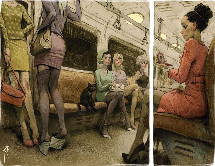 26張第一眼就會讓你「感到有點羞愧」的黑暗諷刺插畫!