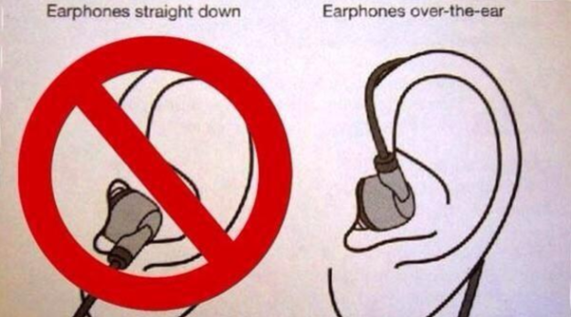 This is actually the proper way to wear ear buds.