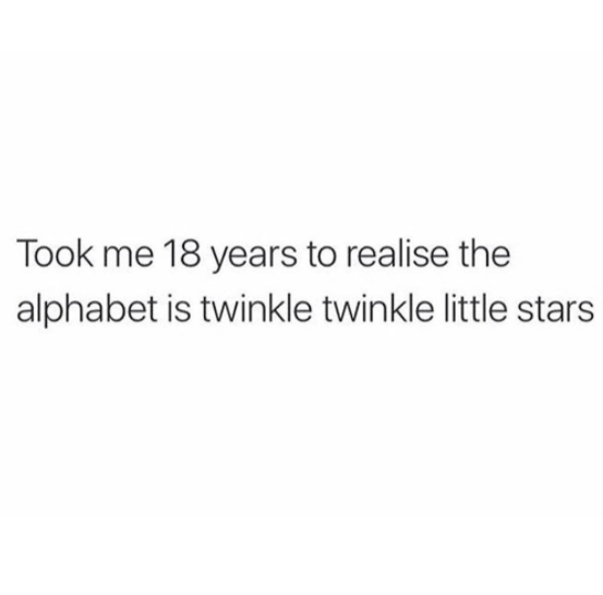 The alphabet does indeed have a familiar tune.