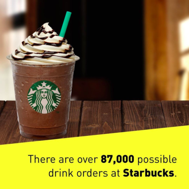 There are more Starbucks drinks than meets the eye.