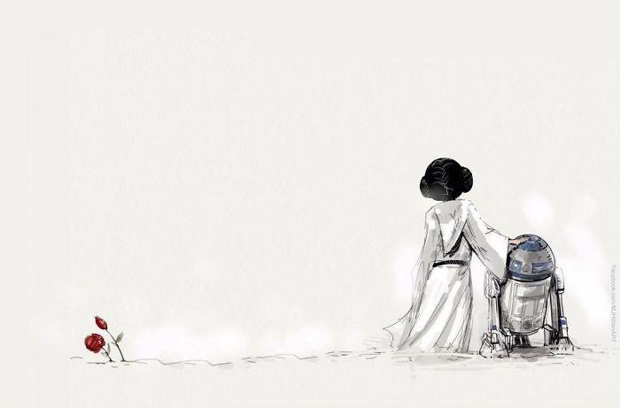37張「會讓你發現錯過了莉亞公主」的感人紀念插畫。