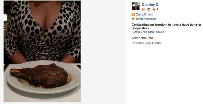 這名男網友一直上傳「負面」美食評論,但網友看到背景都說:「10顆星!」