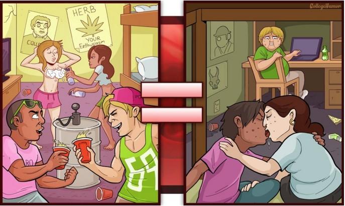 17張會讓你感到淡淡哀傷的爆笑「色色片與現實生活」比對圖!