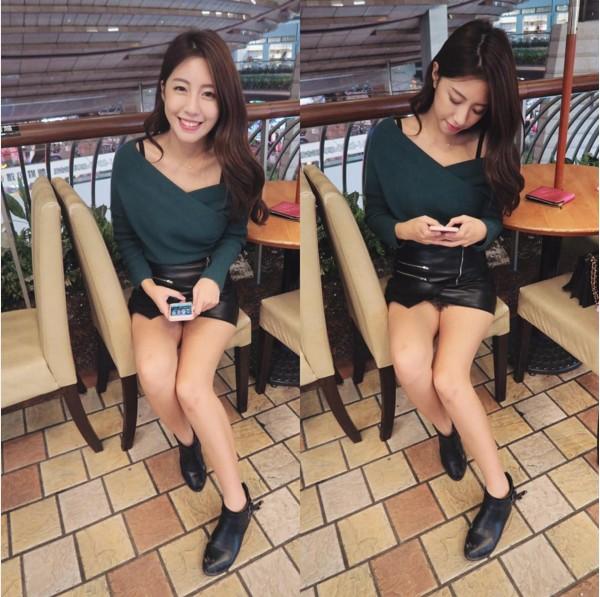 正妹NONO一張短裙照,讓網友心驚「毛炸出來了」?!