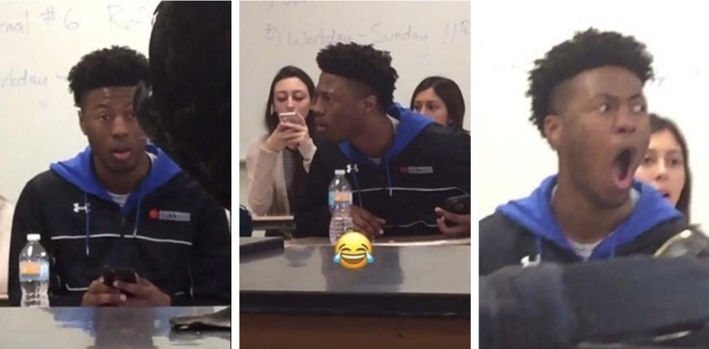 17歲的男生看到老師拿出的巨獸後,臉部表情就爆炸網路爆紅了!
