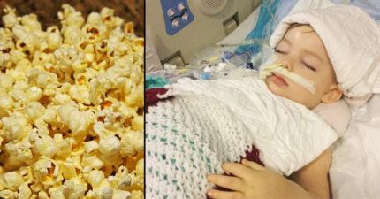 3歲女童「吃了一顆爆米花」倒地不起,苦撐半年「只剩身體還活著」...(爸媽必看)