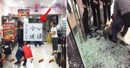 玻璃擦太乾淨,小七被迫公告「傷患增加中」超無奈!網友爆:「撞玻璃很好賺!」