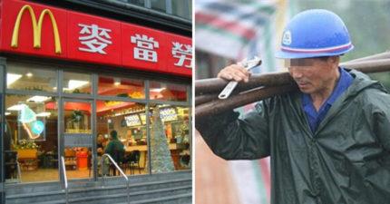 工地阿伯訂麥當勞被酸「沒腳嗎?那麼近還叫外送!」,他道歉:「不敢進去買...」網友爆淚!