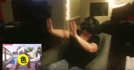兒子讓媽媽戴「VR看色片」,女星褲子一脫,媽媽差點從椅子上摔下來!